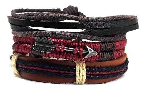 pulseras brazaletes pack 3en1 flecha bordo emporio