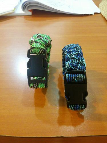 pulseras caballero paracord hombre verde y  azul disponible