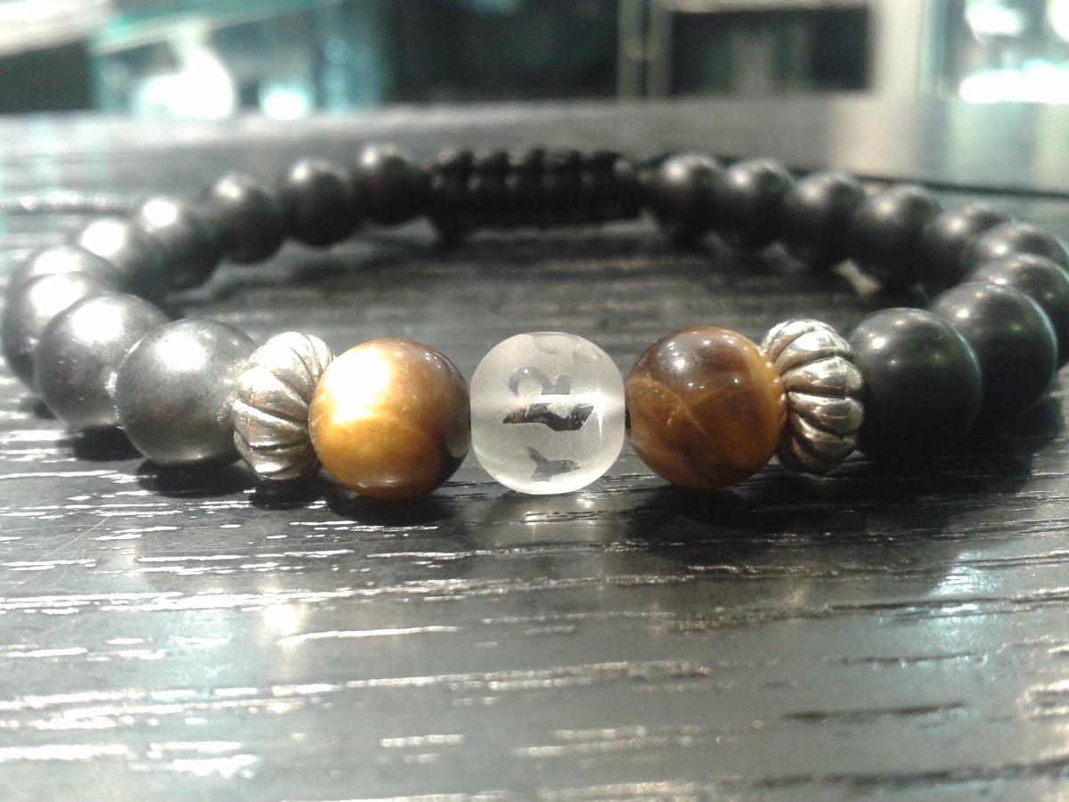 66eb915255a2 pulseras caballero piedras naturales hombres moda masculina. Cargando zoom.