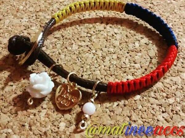 ede47e284b Pulseras Collar Tricolor De Venezuela Bisuteria Mayor Detal - Bs. 2 ...