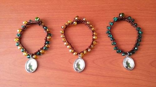 pulseras cristal san judas tadeo recuerdo bautizo comunion