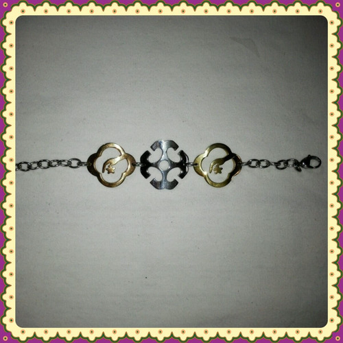 pulseras dama acero