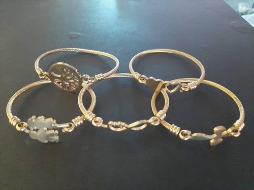 pulseras de acero para damas