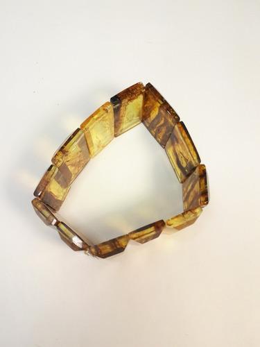 pulseras de ámbar auténtico 100%, modelo unisex rectangular