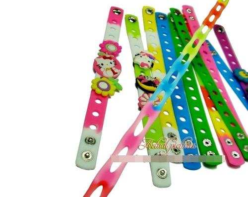 pulseras de colores para jibbitz!  niño niña oferta reloj