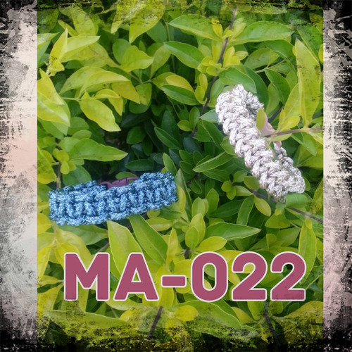 pulseras de cordón metalizado. paracord moda damas