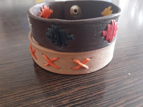 pulseras de cuero bordadas al por mayor