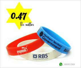 5e5e92f56381 Pulseras De Goma Por Millar Por Mayor Con Logo