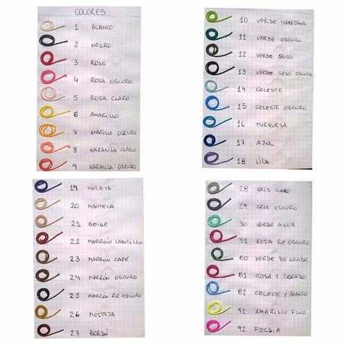 pulseras de hilo encerado - diseños varios - pack x 5
