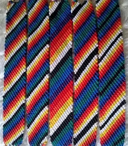 pulseras de hilo encerado - modelo: diagonal de 16 hilos