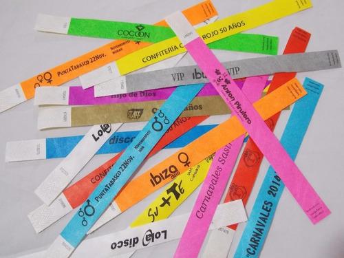 pulseras de identificación fiestas, eventos, entradas invita