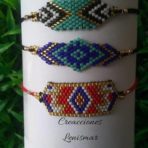 pulseras de miyuki ( mostacillas delicas )
