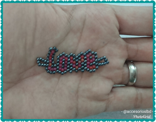 pulseras de mostacilla estilo miyuki amor
