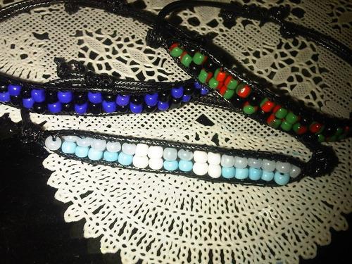 pulseras de mostacilla, rastafari, de moda, tejidas