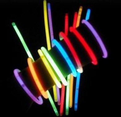 pulseras de neon / manilla glow stick x100 brazaleta luminos