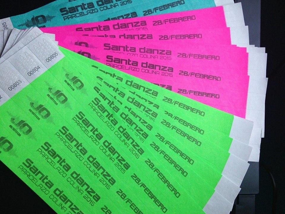 pulseras de papel para fiestas alta resistencia