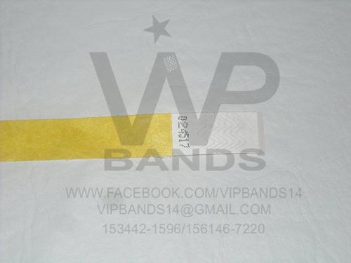 pulseras de papel tyvek para eventos pulseras vip!!!