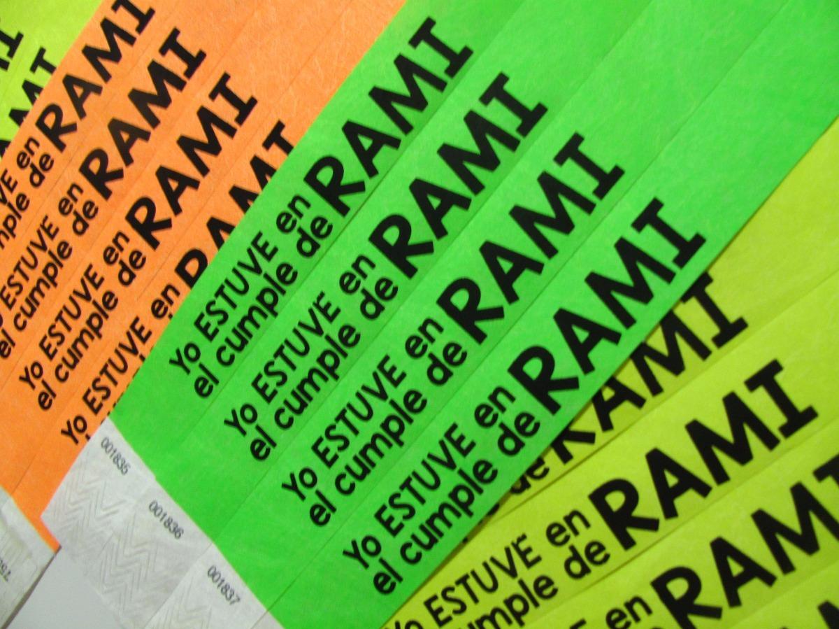 52329174377a pulseras de papel tyvek personalizadas para eventos x50. Cargando zoom.