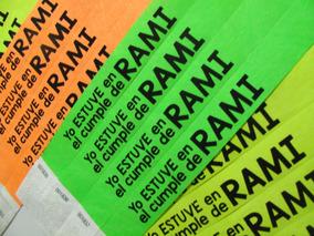 bc96deb48744 Pulseras Papel Personalizadas - Material de Promoción en Mercado Libre  Argentina