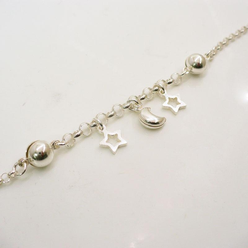 bec26fd119fe Pulseras De Plata 925 Mujer Con Dijes Plata Luna Estrella -   960