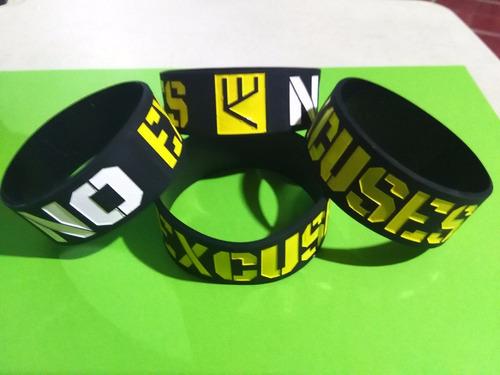 pulseras de silicon crossfit bodybuilding varios modelos