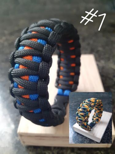 pulseras  de supervivencia paracord brazalete varios modelos