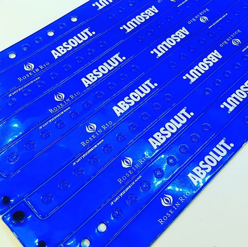 pulseras de vinilo  plastico precinto vip acceso total