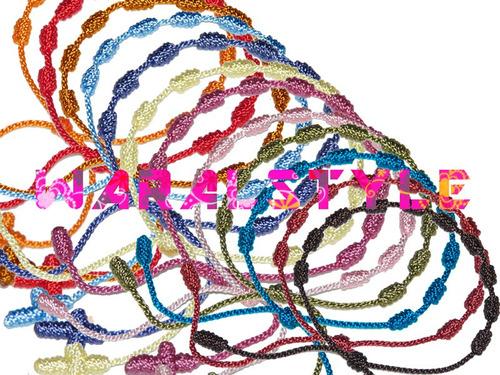 pulseras decenarios - rosarios (3 docenas)