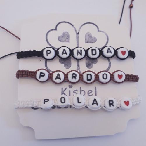 pulseras dilo con letras las originales, bae