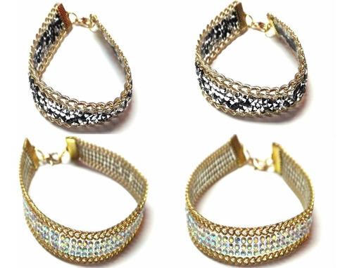 pulseras elegantes moda fiesta diseño mujer look fashion