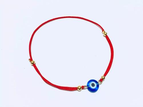 pulseras hilo rojo ojo turco rojo y color mayoreo con envio