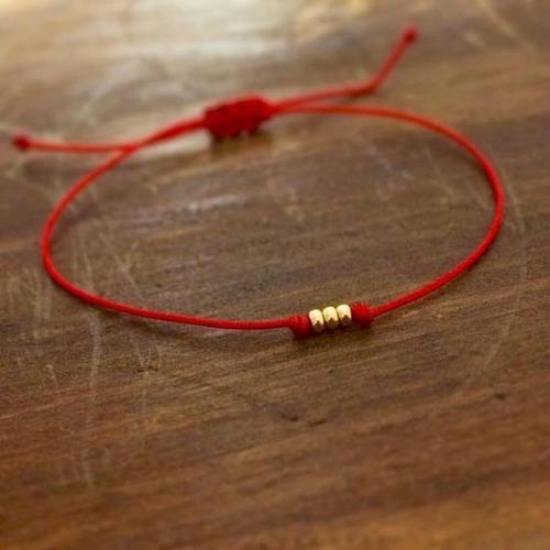 pulseras hilo rojo y balin