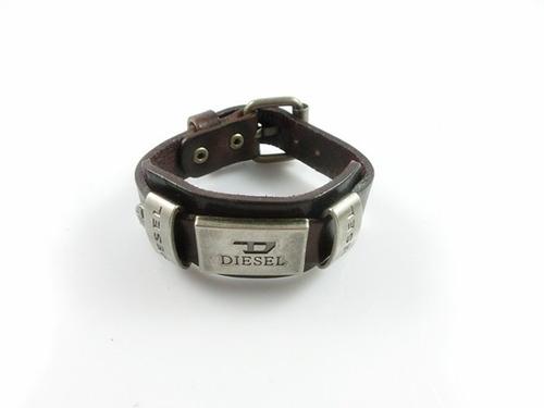 pulseras hombre diesel cuero y metal primera calidad