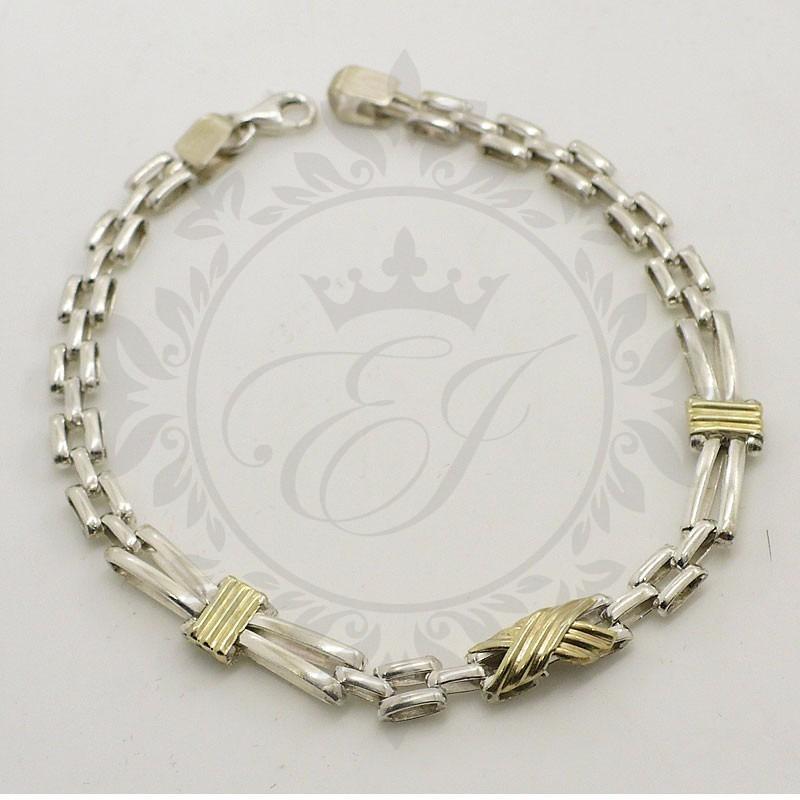 8269ffe0a1c9 pulseras hombre o mujer en plata 925 y oro estilo panther. Cargando zoom.