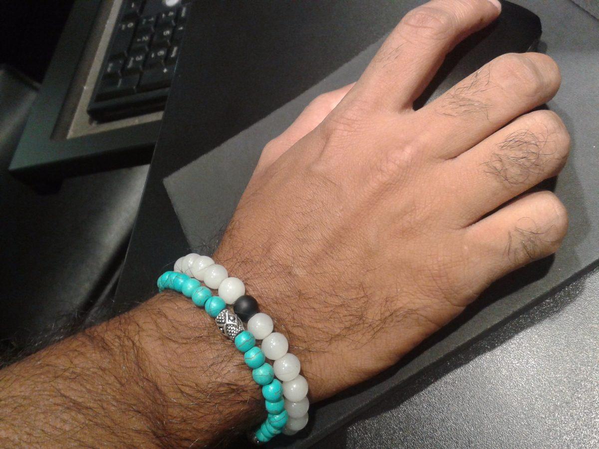 b7b6c32de86a pulseras hombre piedras naturales caballero moda masculina. Cargando zoom.