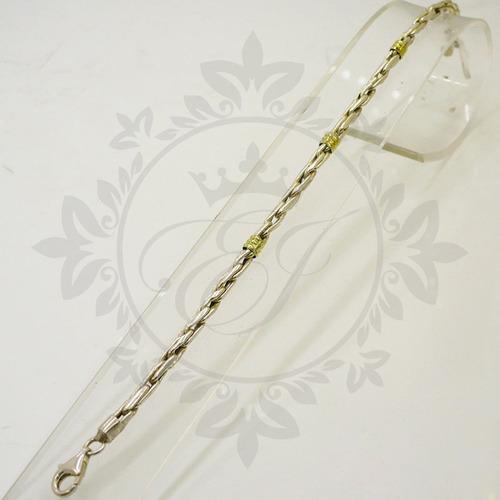 pulseras hombre plata 925 oro mujer soga 4mm regalo mamá!