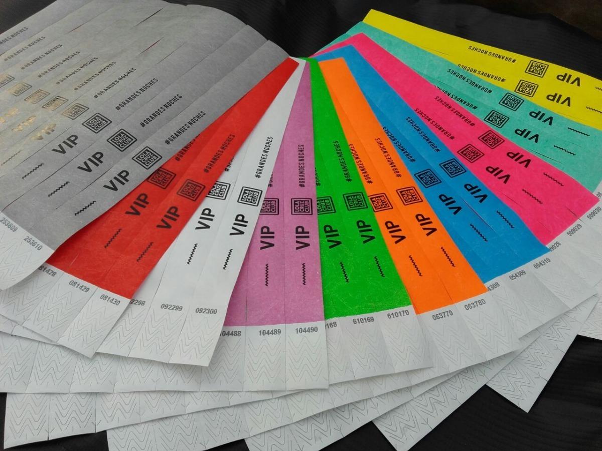 663af5d8d5d7 pulseras identificación impresas tyvek x1000 eventos boliche. Cargando zoom.