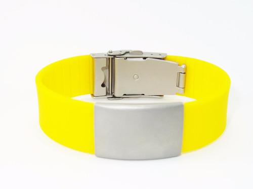 pulseras identificación manillas tus datos en laser