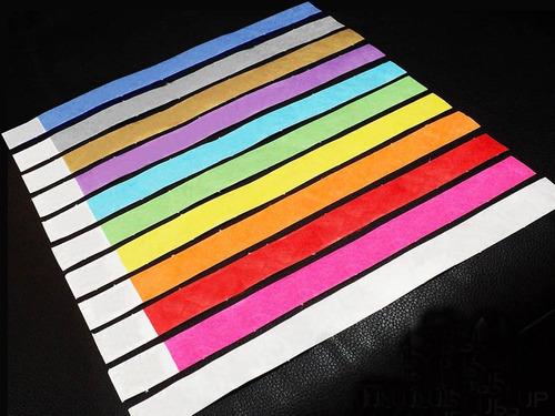 pulseras identificación tyvek sin impresión 500 unidades
