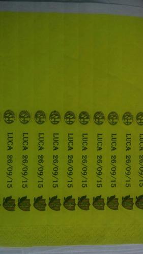 pulseras identificación tyvek x 1000 und. impresas