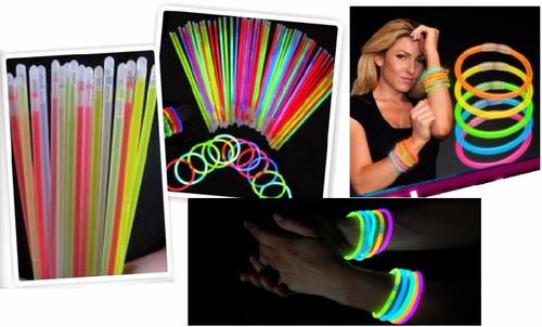 pulseras  luminosas 100 unidades