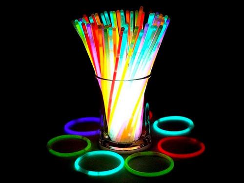 pulseras luminosas quimicas cotillon de neon x100 unidades