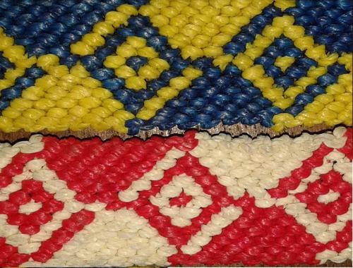pulseras  macrame hilo encerado en dos colores