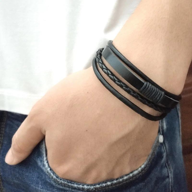 ded1b7197cf4 pulseras manillas de cuero hombre mujer brazalete accesorio. Cargando zoom.