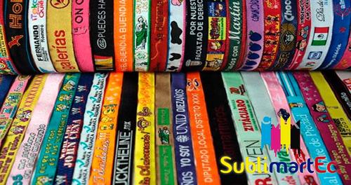 pulseras / manillas sublimadas publicitarias