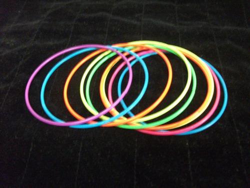 pulseras metal/pintado moda v/colores precio x 9 pz. t/v