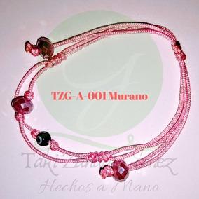 9151636ef2e4 Pulseras Mujer Hilo Chino- Murano-flores-perla-dije