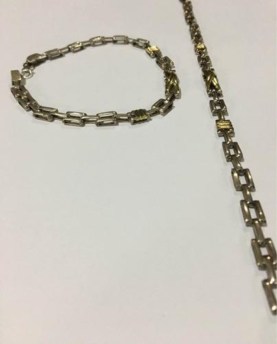 pulseras panther plata y oro