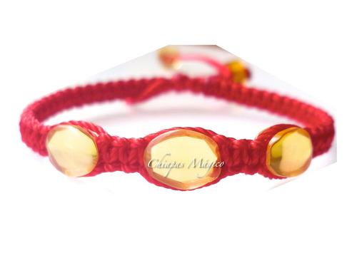 pulseras para bebé con ámbar de chiapas / rojas / ajustables