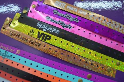 pulseras para eventos tyvek vinilo pvc glitter